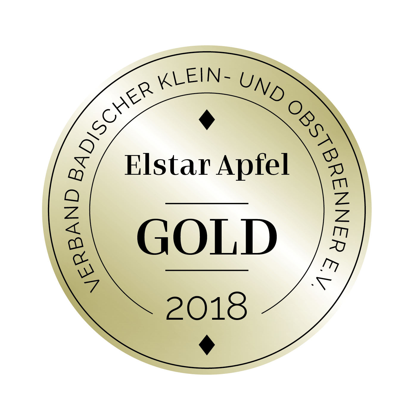 Edeldestillat Auszeichnung Elstar Apfel gold