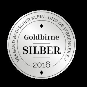 Edeldestillat Auszeichnung Goldbirne