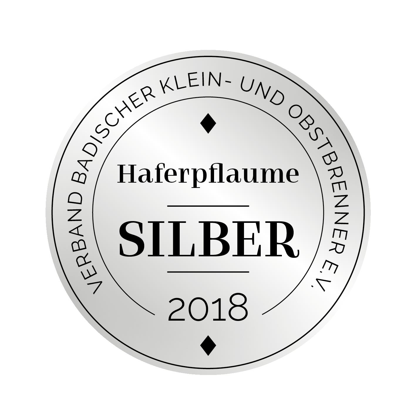 Edeldestillat Auszeichnung Haferpflaume