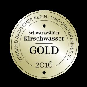 Edeldestillat Auszeichnung Kirschwasser gold