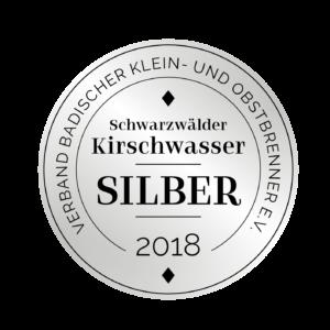 Edeldestillat Auszeichnung Kirschwasser silber