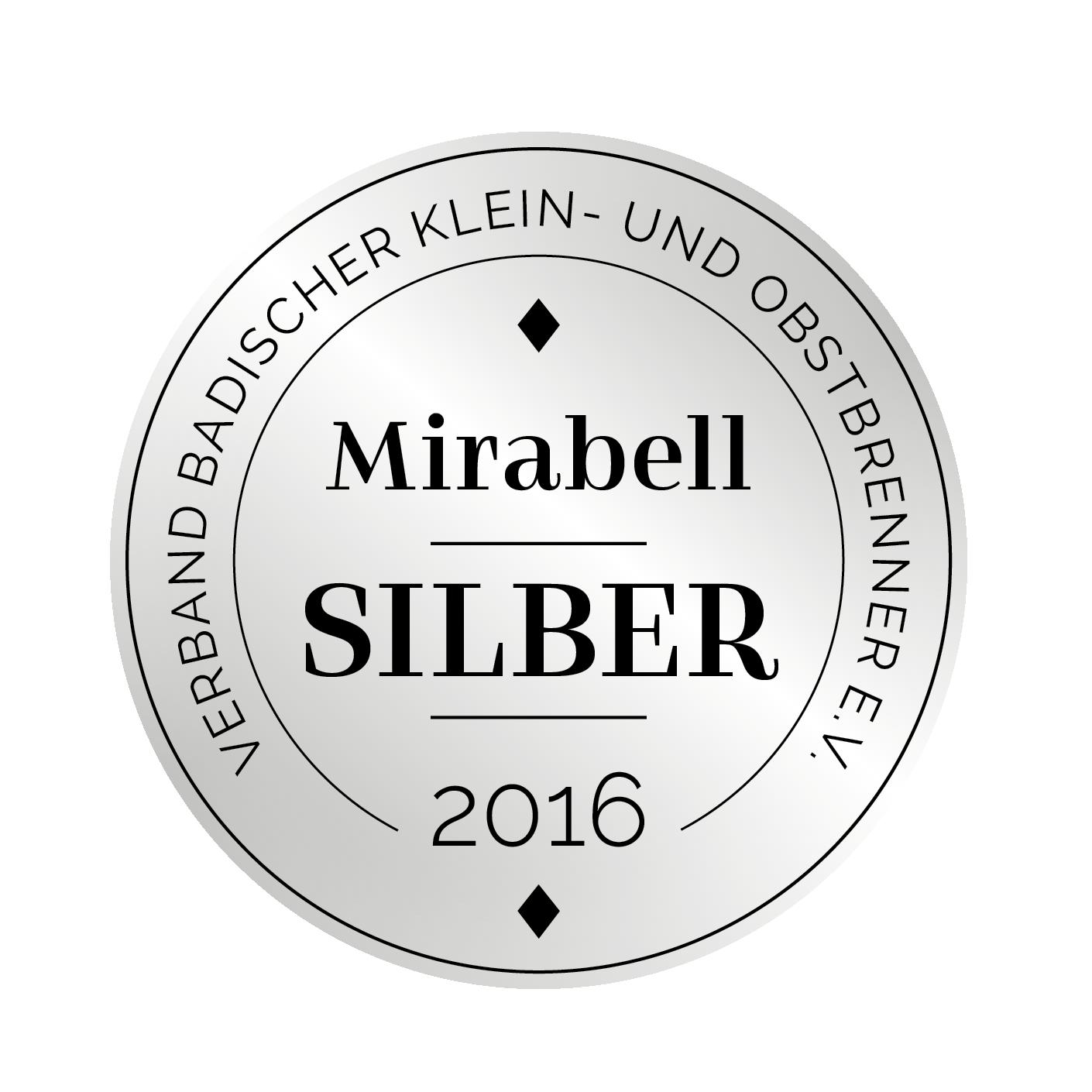 Edeldestillat Auszeichnung Mirabell silber