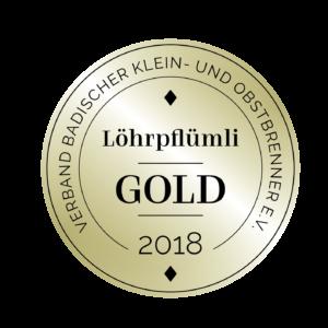 Edeldestillat Auszeichnung Löhrpflümli gold