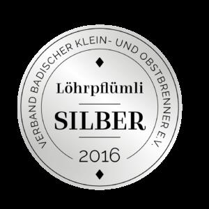 Edeldestillat Auszeichnung Löhrpflümli silber