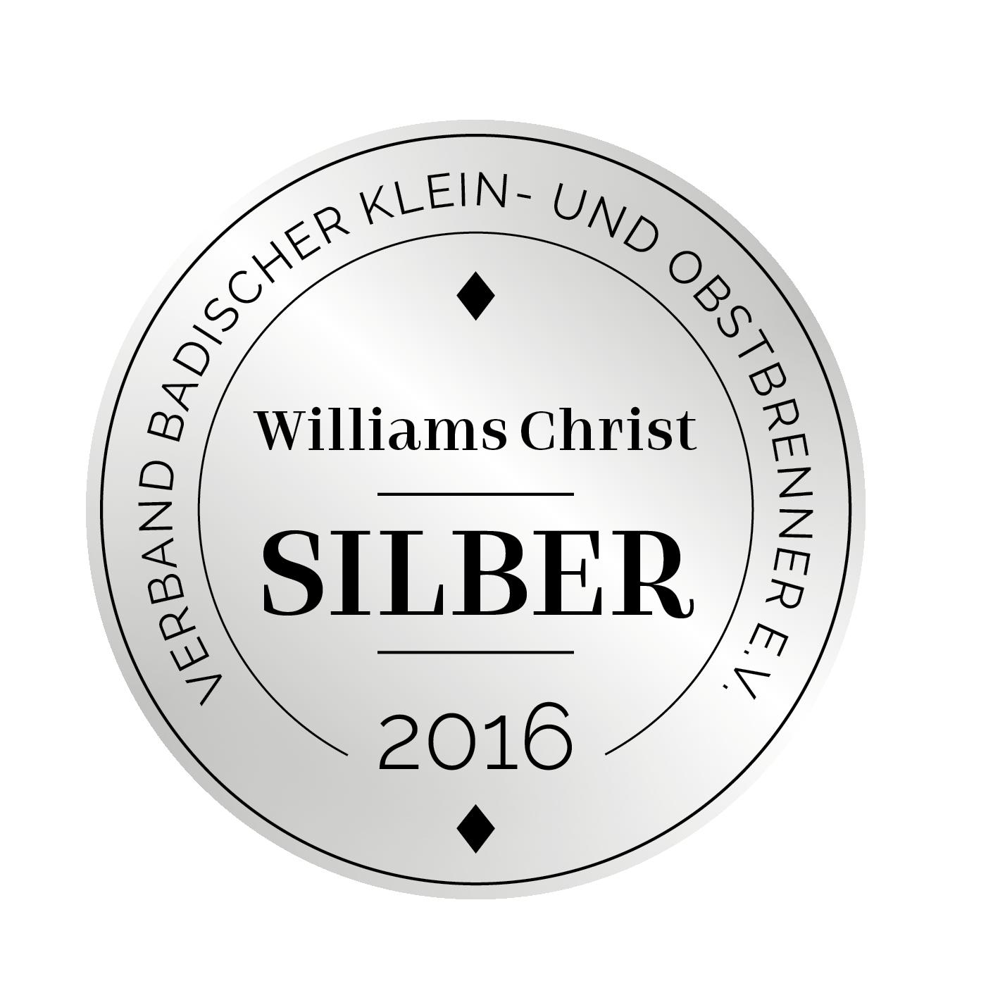 Edeldestillat Auszeichnung Williams Christ
