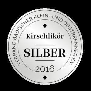 Edeldestillat Auszeichnung Kirschlikör silber